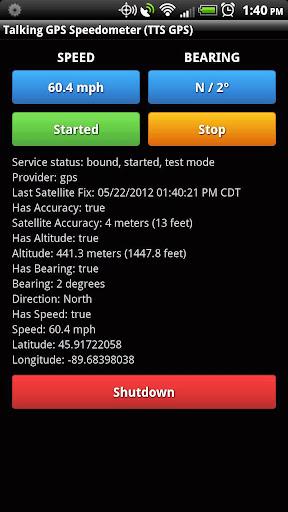 Talking GPS Speedometer