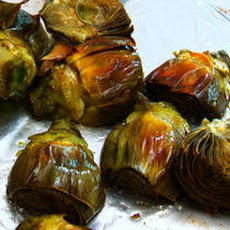 Roasted Baby Artichokes with Meyer Lemon–Saffron Aioli Recipe