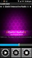 Screenshot of ElaKiri Radio