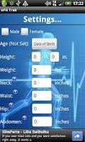 Screenshot of eFit Trak