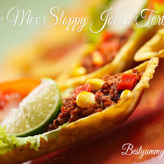 Tex Mex sloppy joe in tortillas