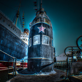 Terror of The Deep by Collin Sheehan - Transportation Boats ( queen, uboat, california, star, sea, beach, military, longbeach, red, russia, russian, soviet, october, submarine, foxtrot )