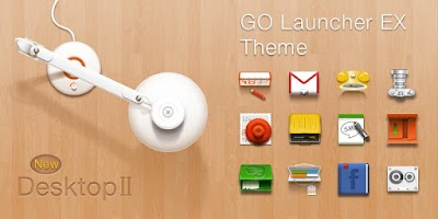 Screenshot of Desktop GO Launcher Theme