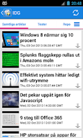 Screenshot of Sverige Nyheter