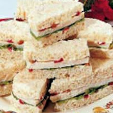 Chicken Salad Tea Sandwiches with Smoked Almonds