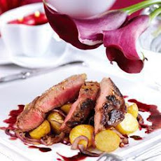 Seared Chilli Pepper Beef with Paprika Potatoes
