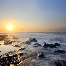 Panatai Manyar, Ketewel Bali by Achem Kw - Landscapes Beaches ( bali, balibeach, manyar, pantain, landscape, slow speed )