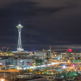 Needle in night by Eddie Murdock - Buildings & Architecture Statues & Monuments