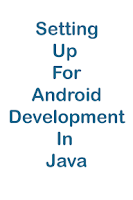 Screenshot of Android Programming Java Setup