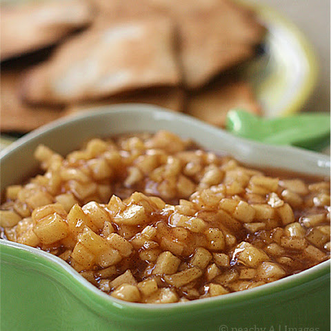 Apple Pie Dip & Cinnamon-Sugar Tortilla Chips