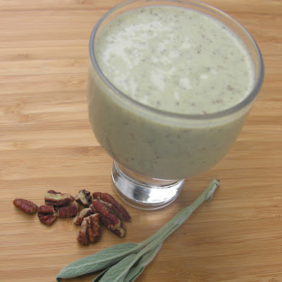 A Sage And Honey Walnut Milkshake (with Vegan Option)
