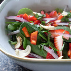 Strawberry Spinach Salad With Creamy Poppy Seed Dressing