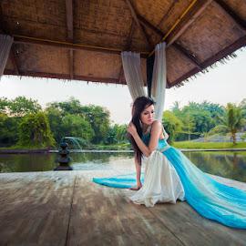 Aisa by Willi Yeo - People Fashion ( fashion, girl, shelter, hut, woman, lake, beauty, beauty in nature )