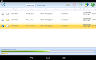 Screenshot of Symbility Mobile Claims ZA