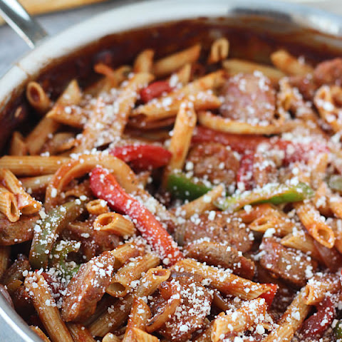Skillet Italian Sausage & Peppers with Penne