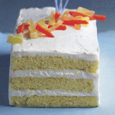 Citizen Cake Rum Butter Cake with Key Lime Cream and Tropical Fruits Recipe