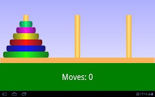 Screenshot of Tower of Hanoi