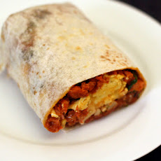 Dinner Tonight: Breakfast Burrito with Chorizo, Potato, and Egg