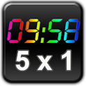 Rainbow Clock Widget (HD51)