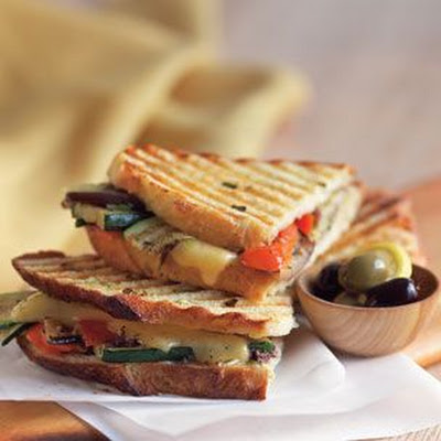 Grilled Vegetable and Cheese Panini