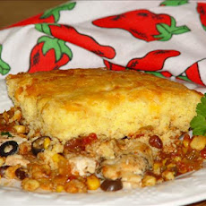 Spicy Chicken and Cornbread -  Casserole