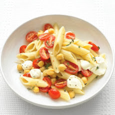 Penne with Grape Tomatoes and Mozzarella