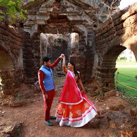 by Dhruv Ashra - Wedding Bride & Groom