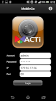 Screenshot of ACTi MobileGo