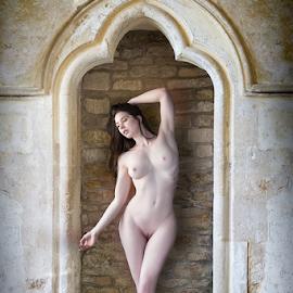 Nude in the Abbey by Marie Otero - Nudes & Boudoir Artistic Nude ( www.lostaussie.com, model, nude, female, fine art, elle beth, abbey )