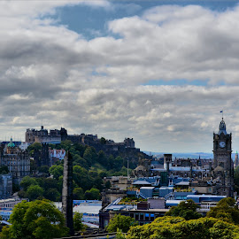Edinburgh by Nic Scott - Landscapes Cloud Formations ( edinburgh, cityscape )