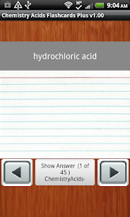 Chemistry Acids FlashcardsPlus - screenshot