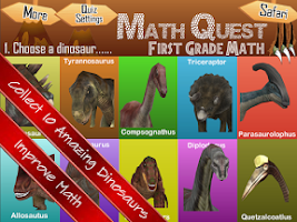 Screenshot of Math Quest Quiz First Grade 1