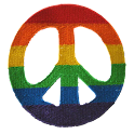 Rainbow Peace Sign Patch icon