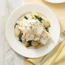 Smoked Haddock With Buttered Spinach & Mustard Sauce