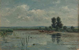 RIJKS: Willem Roelofs (I): Lake near Loosdrecht 1887
