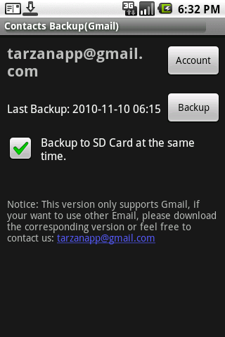 Contacts Backup Gmail