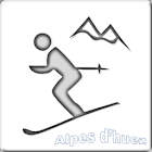 Map of Alpe d'Huez pist icon
