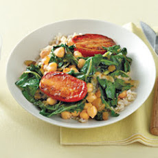 Chickpeas With Chard and Pan-Roasted Tomatoes