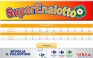 Screenshot of SuperEnalotto 12+