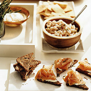 Herbed Bay Shrimp with Rye Crackers