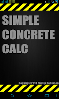 Screenshot of Simple Concrete Calculator