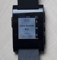 Screenshot of Pebble Dialer