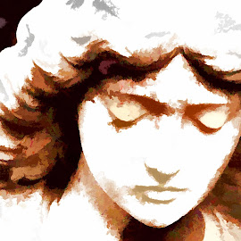 Angel by Marney Dainty - Digital Art Things ( angel, statue, memorial, cemetery, stone )