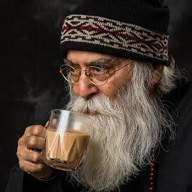 Tea Break by Rakesh Syal - People Portraits of Men (  )