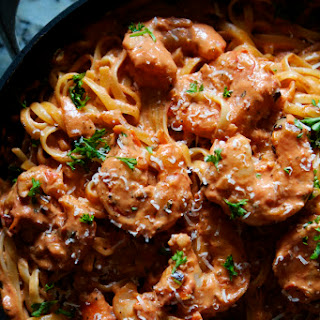 Spicy Shrimp Pasta with Creamy Tomato Sauce
