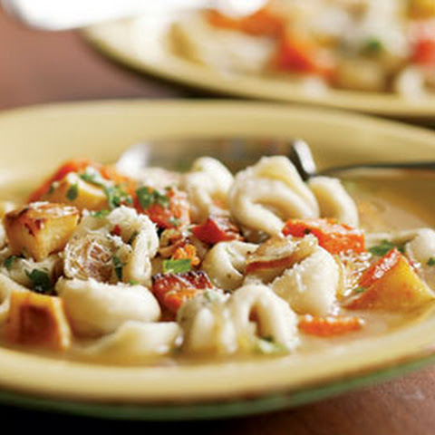 Tortellini in Broth with Roasted Vegetables