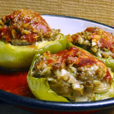 Parmesan Beef Stuffed Bell Peppers