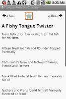 Screenshot of BKS Tongue Twisters