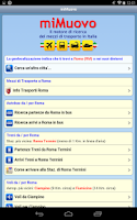 Screenshot of miMuovo - Transports in Italy
