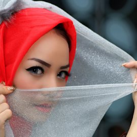 red hijab by Didik Harianto - People Portraits of Women